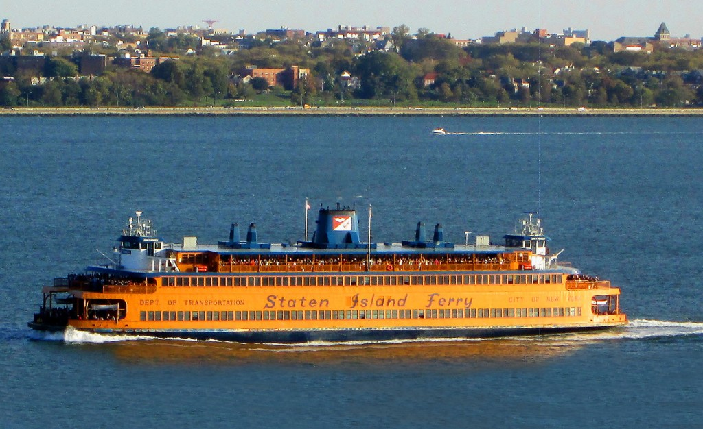 Staten Island Ferry In New York Upper Bay