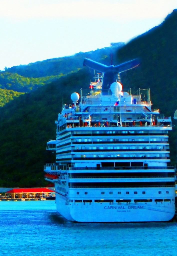 Carnival Dream Docked In Great Bay St Maarten