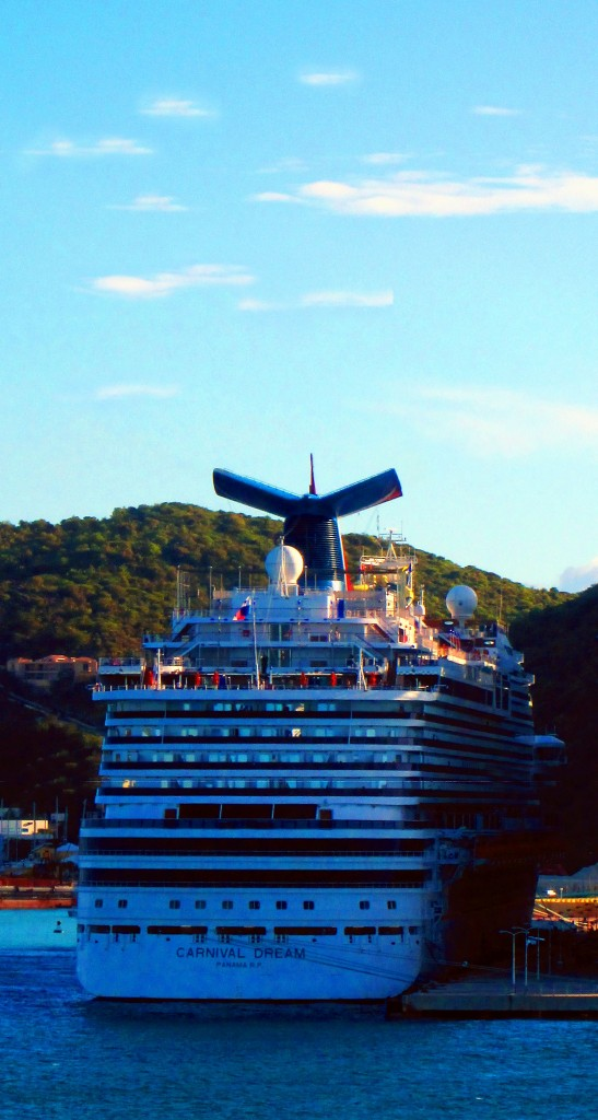 Carnival Dream Docked In The Caribbean