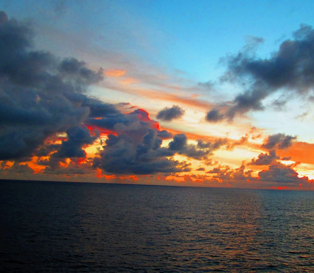 Morning Sky On The Caribbean Sea