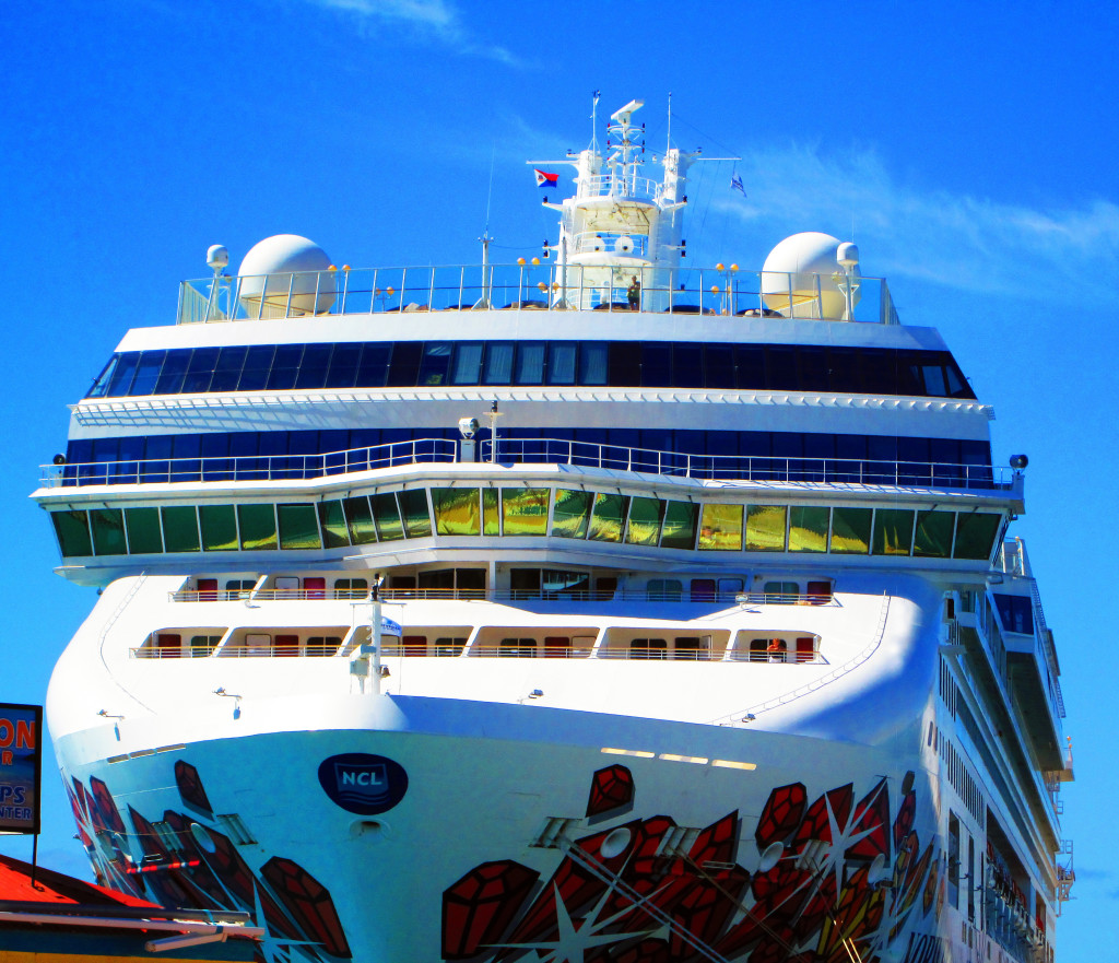 Bow Of Norwegian Gem Cruise Ship