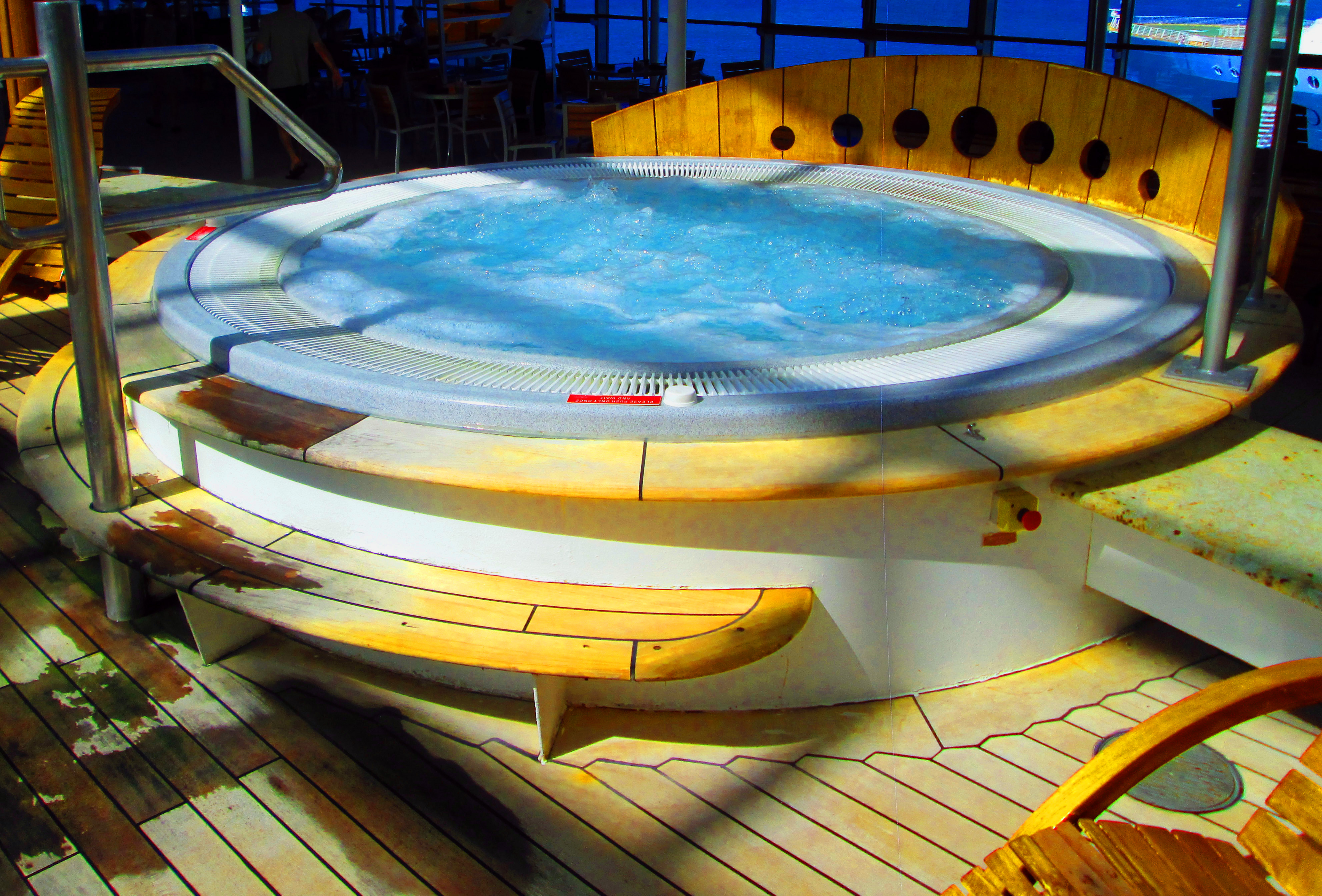 Celebrity Summit Hot Tub In Enclosed Spa Area