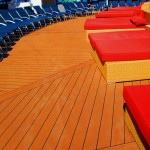 Cruise Ship Cushioned Deck Lounges