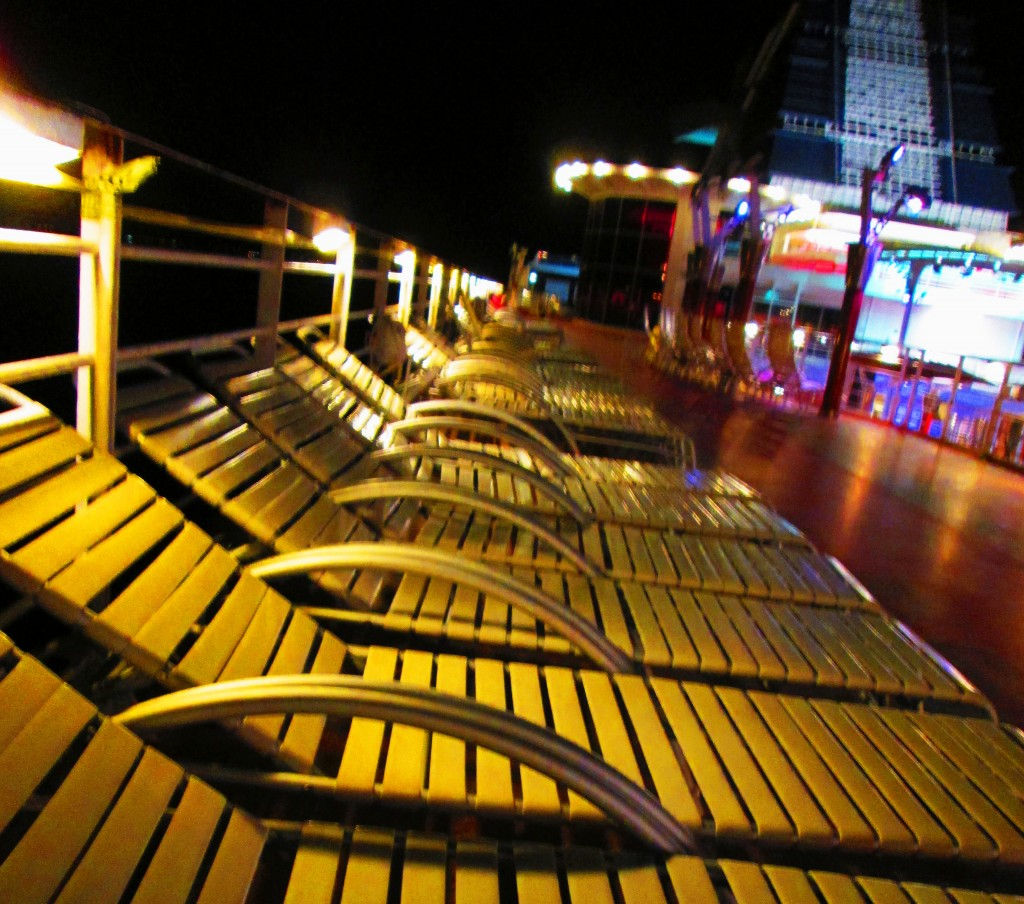 Cruise Ship Deck 12 At Night