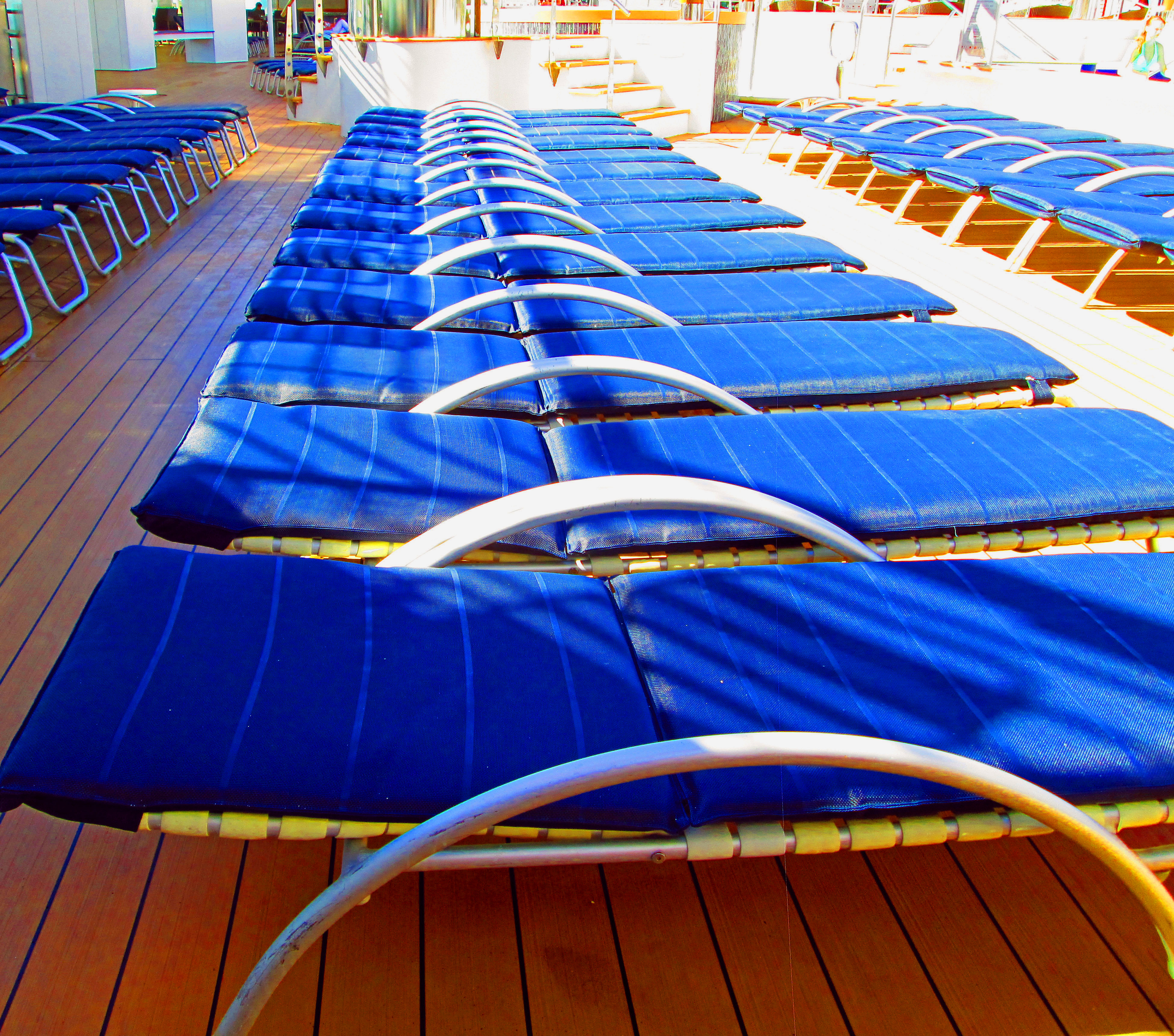Cruise Ship Lounges Lined Up & Ready For A New Day