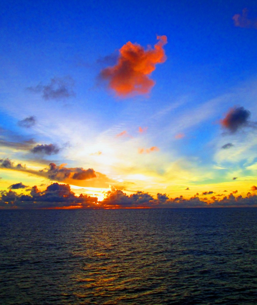 Dawn On The Caribbean Sea