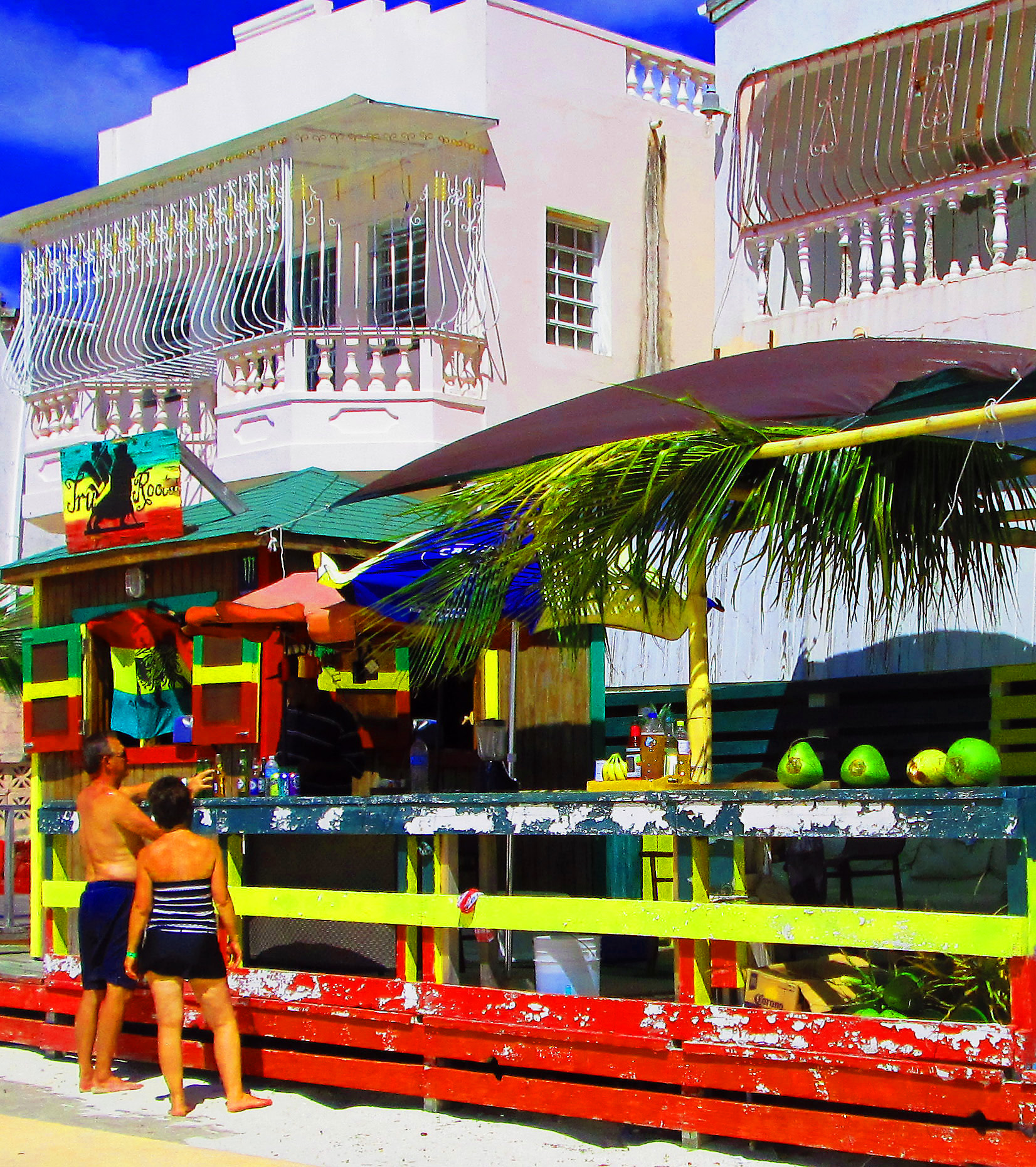 Juice Bar On St Maarten Boardwalk