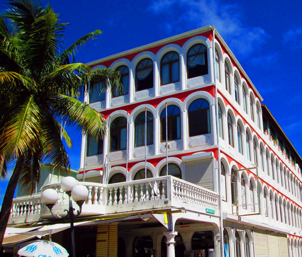 Older Hotel On Philipsburg St Maarten Boardwalk