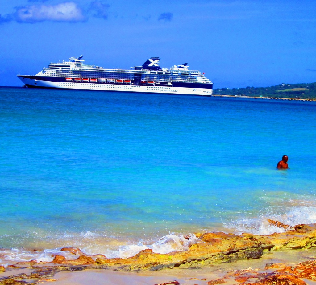 St Croix Islander At Rainbow Beach Near Cruise Terminal