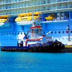 St Maarten Tug Boat At Cruise Ship Terminal