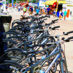 Trex-Bicycles-Lined-Up-For-Rent-On-St-Maarten-Boardwalk