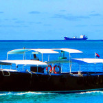 Water-Taxi-Container-Ship-&-Sail-Boats-In-Great-Bay