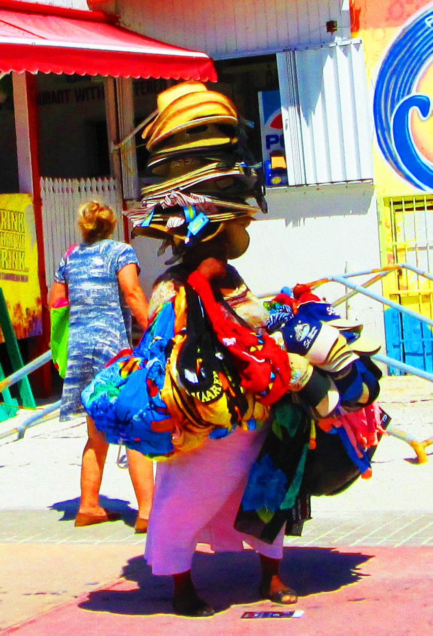 Caribbean Hat Lady