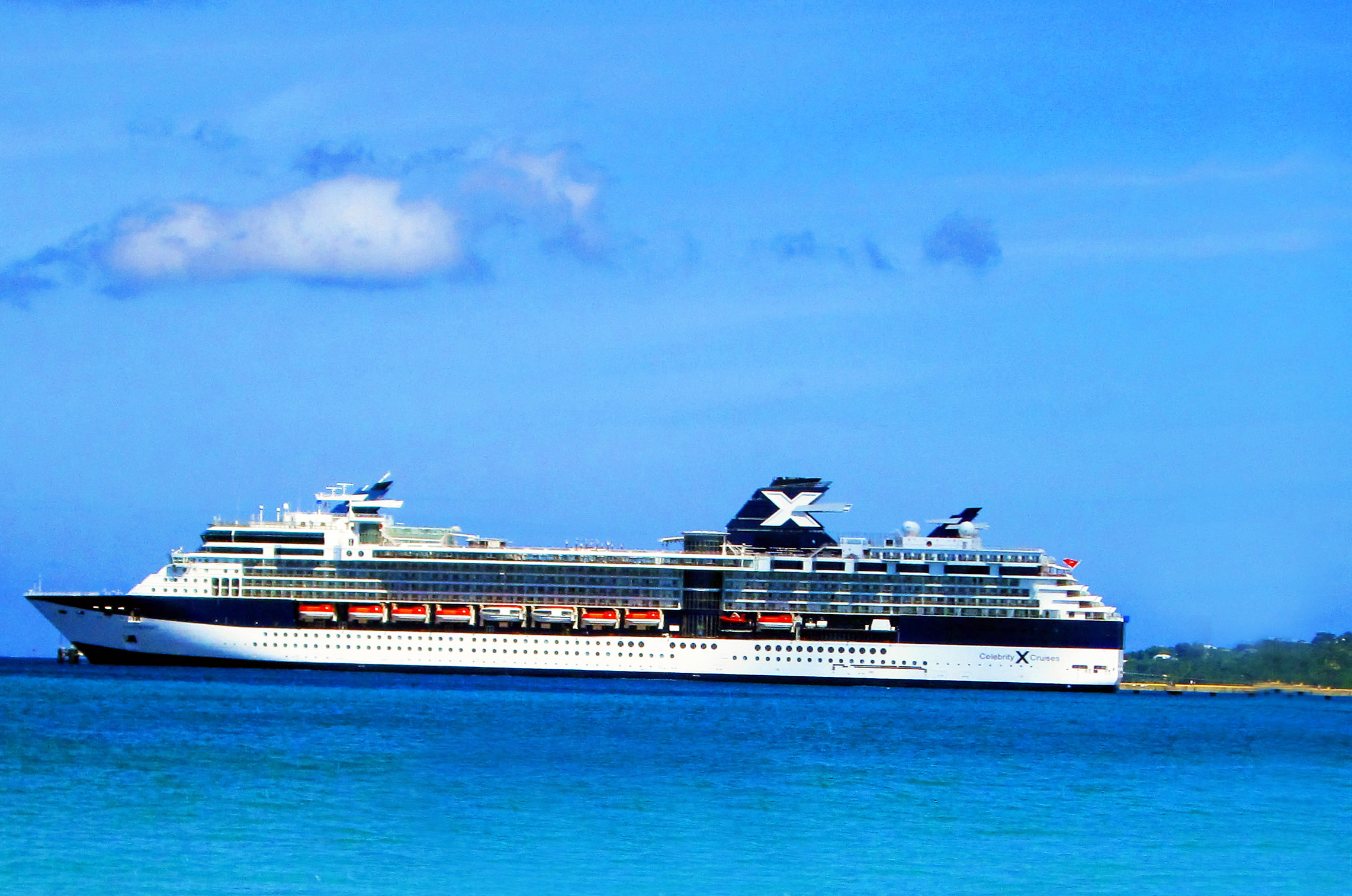 Celebrity Cruise Ship In Caribbean Port