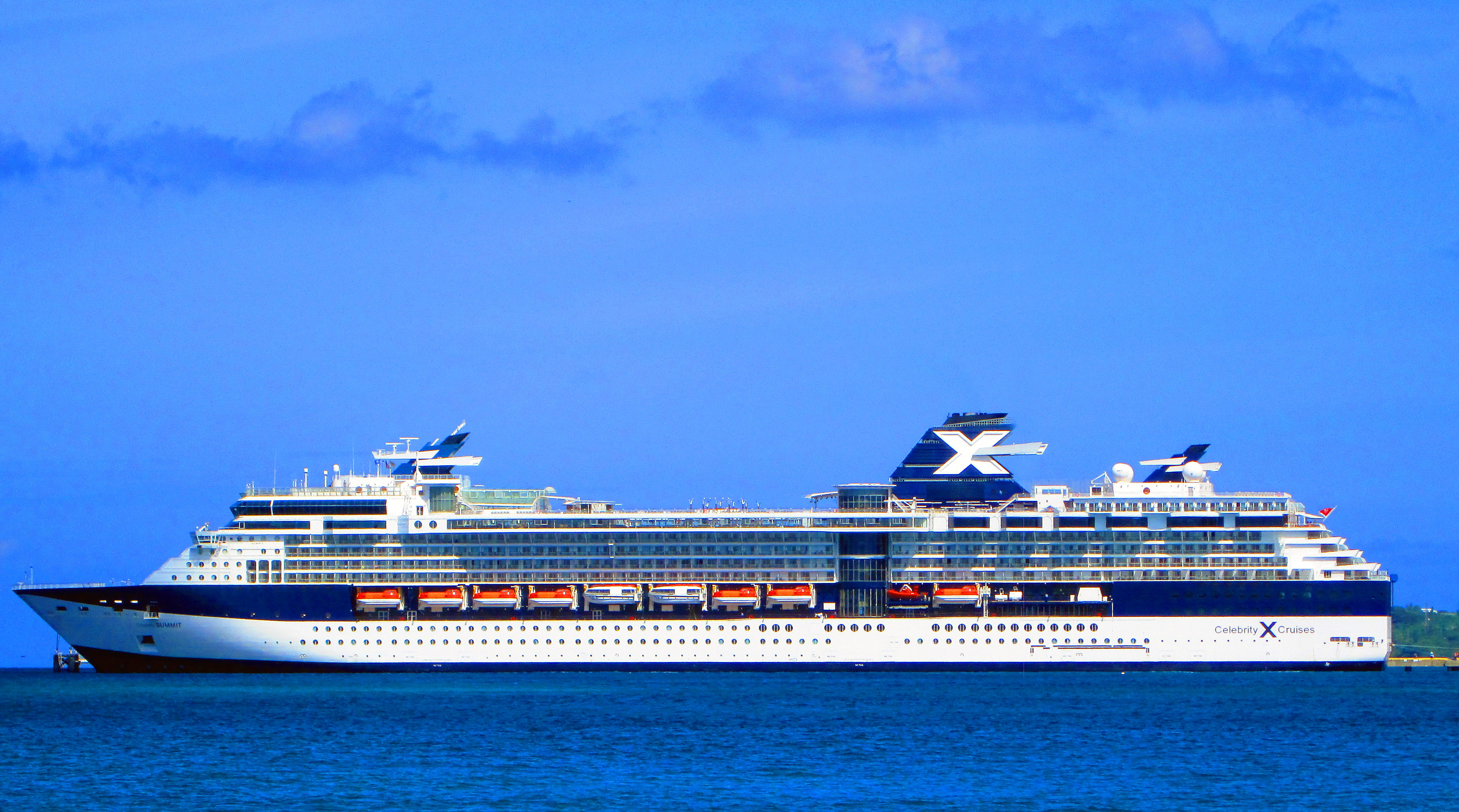 Celebrity Summit Docked At St Croix Ann E Abramson Pier