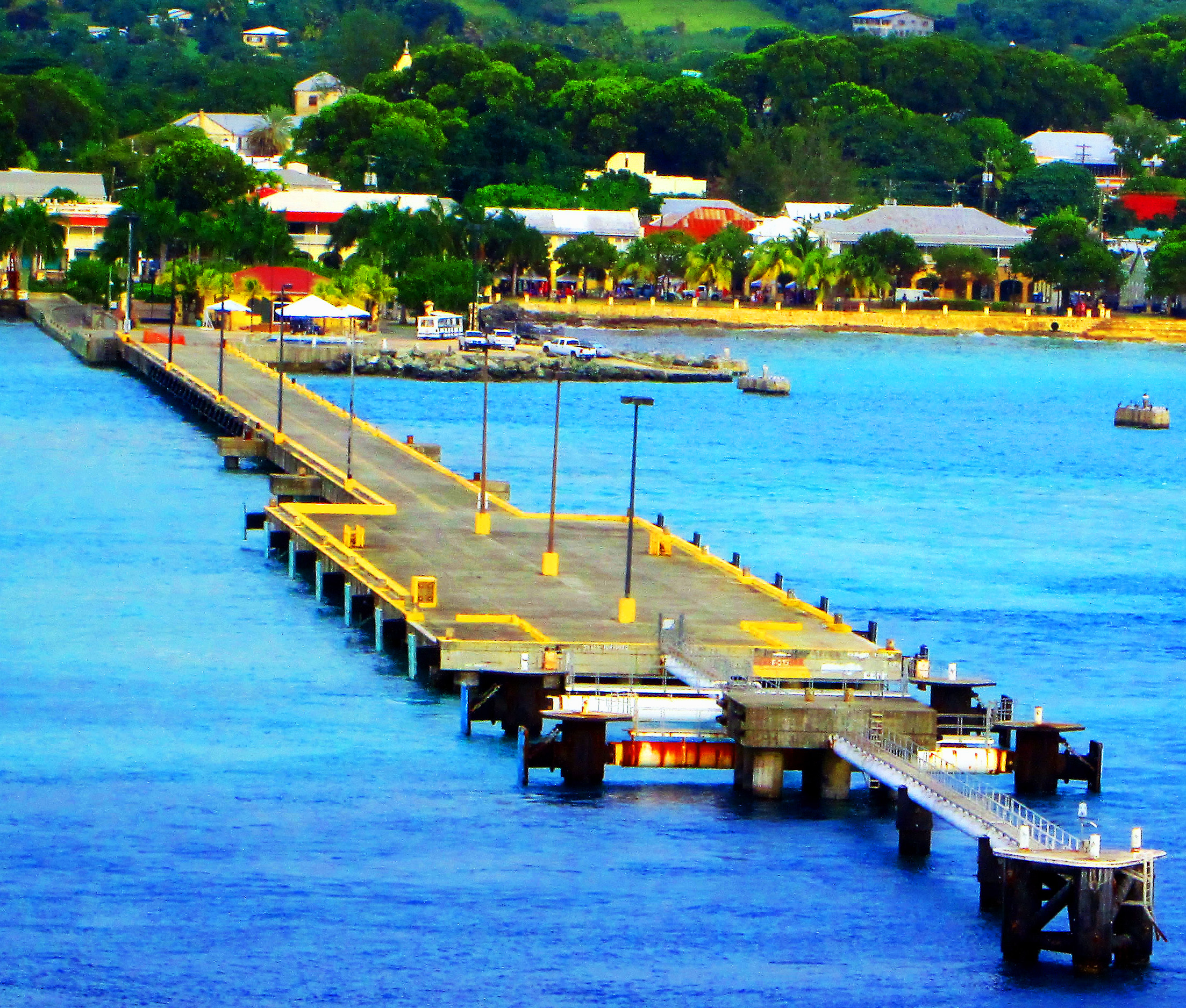 Cruise Ship Pier In St Croix