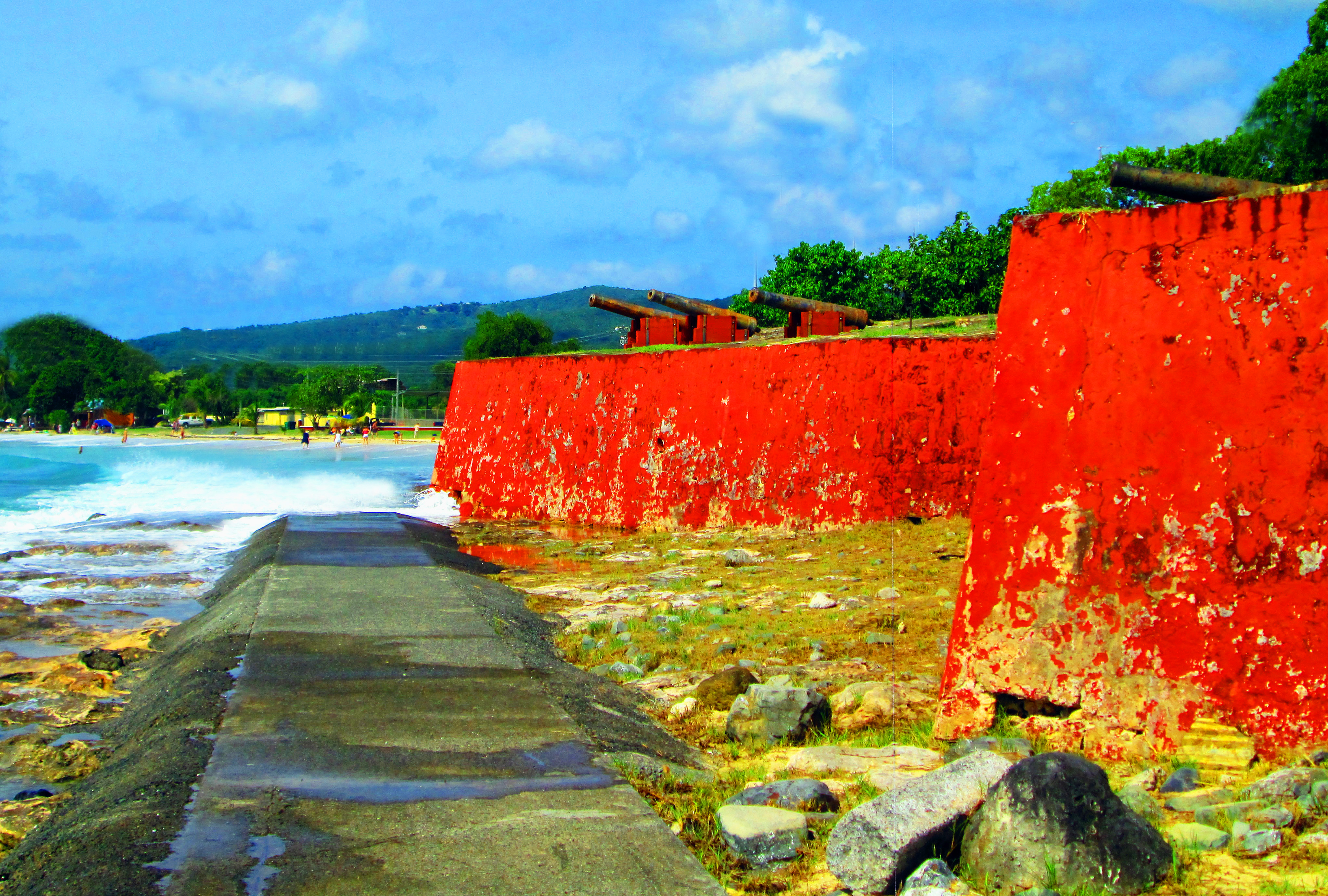 Shoreline Walk Around Fort Frederiksted In St Croix