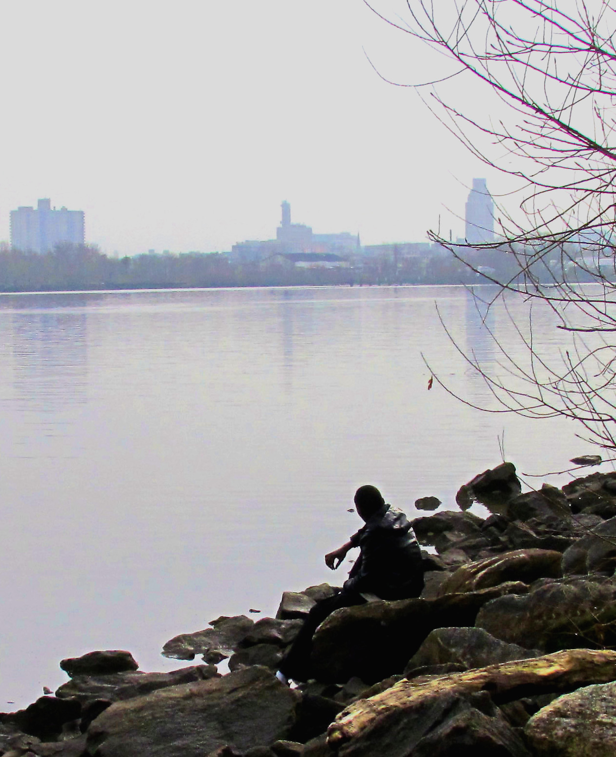 Having A Morning Smoke On The Delaware River Shoreline