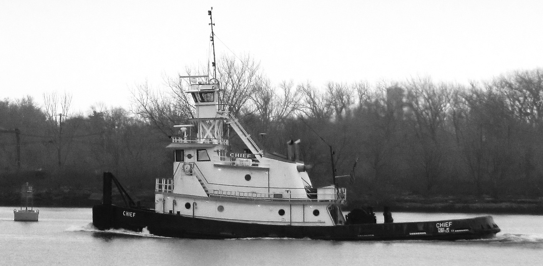 Black & White Chief On The River
