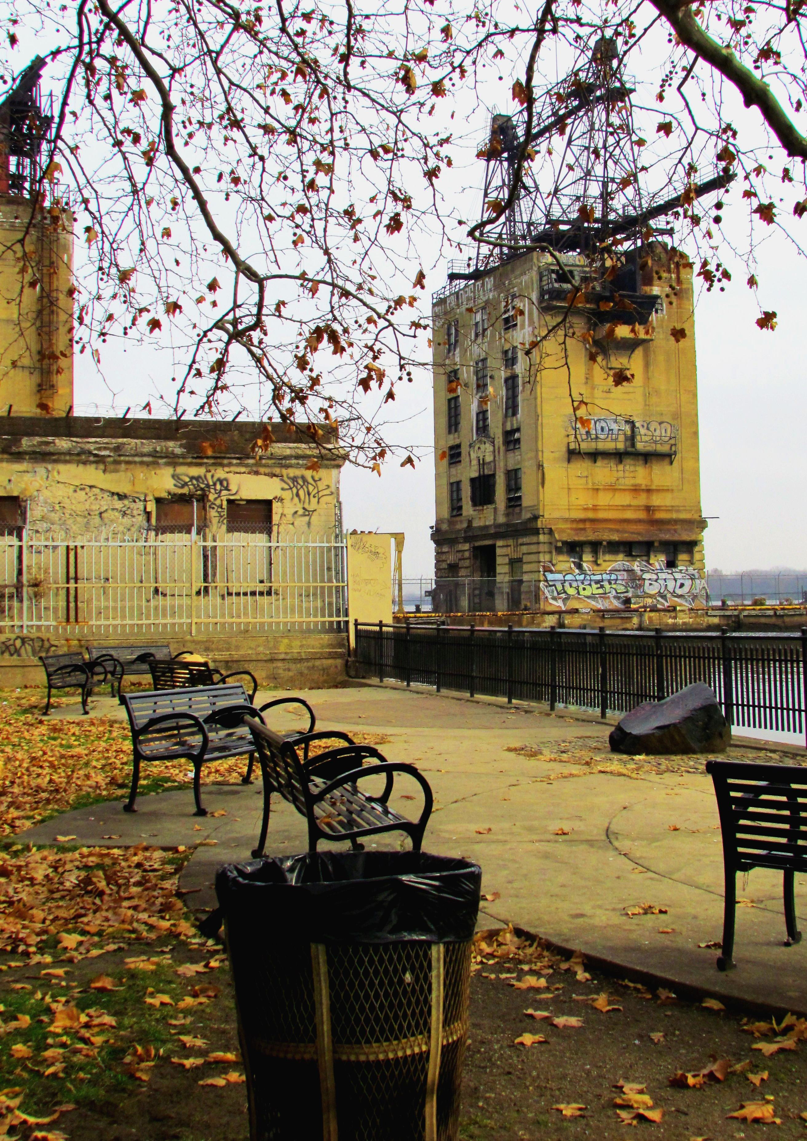 Former PECO Coal Tower Next To Penn Treaty Park Patio