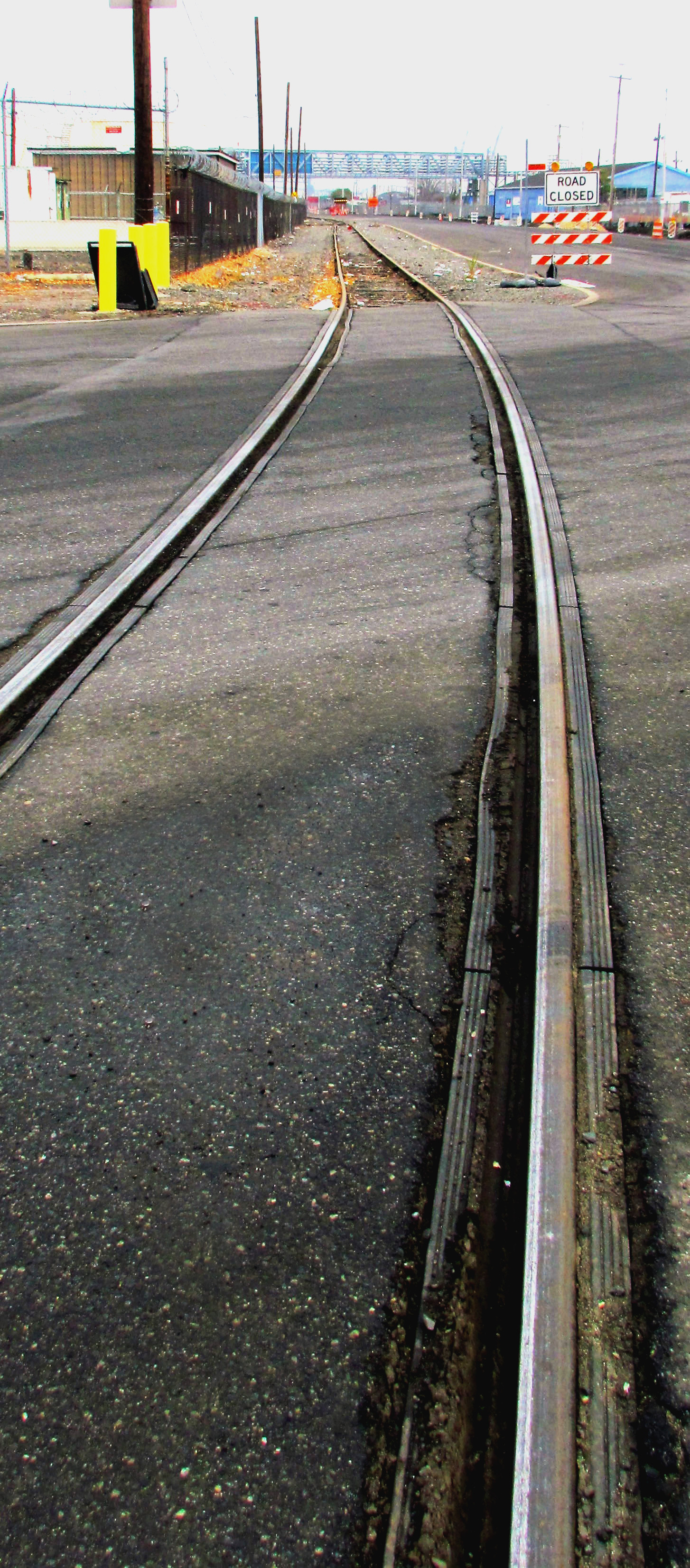 Rail Road Tracks Crossing Allegheny Ave Along Delaware Ave
