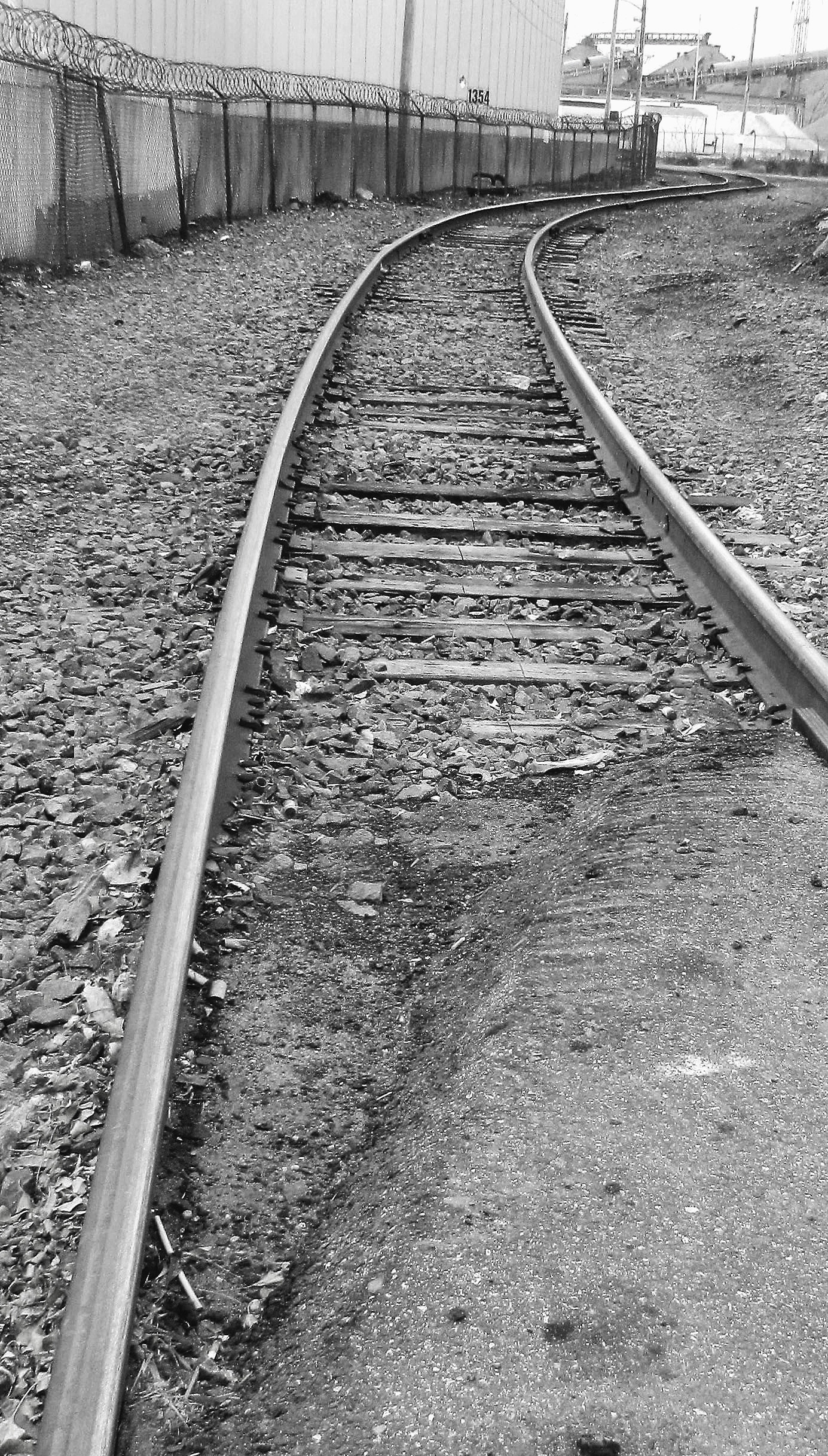 Black & White Of Industrial Rails