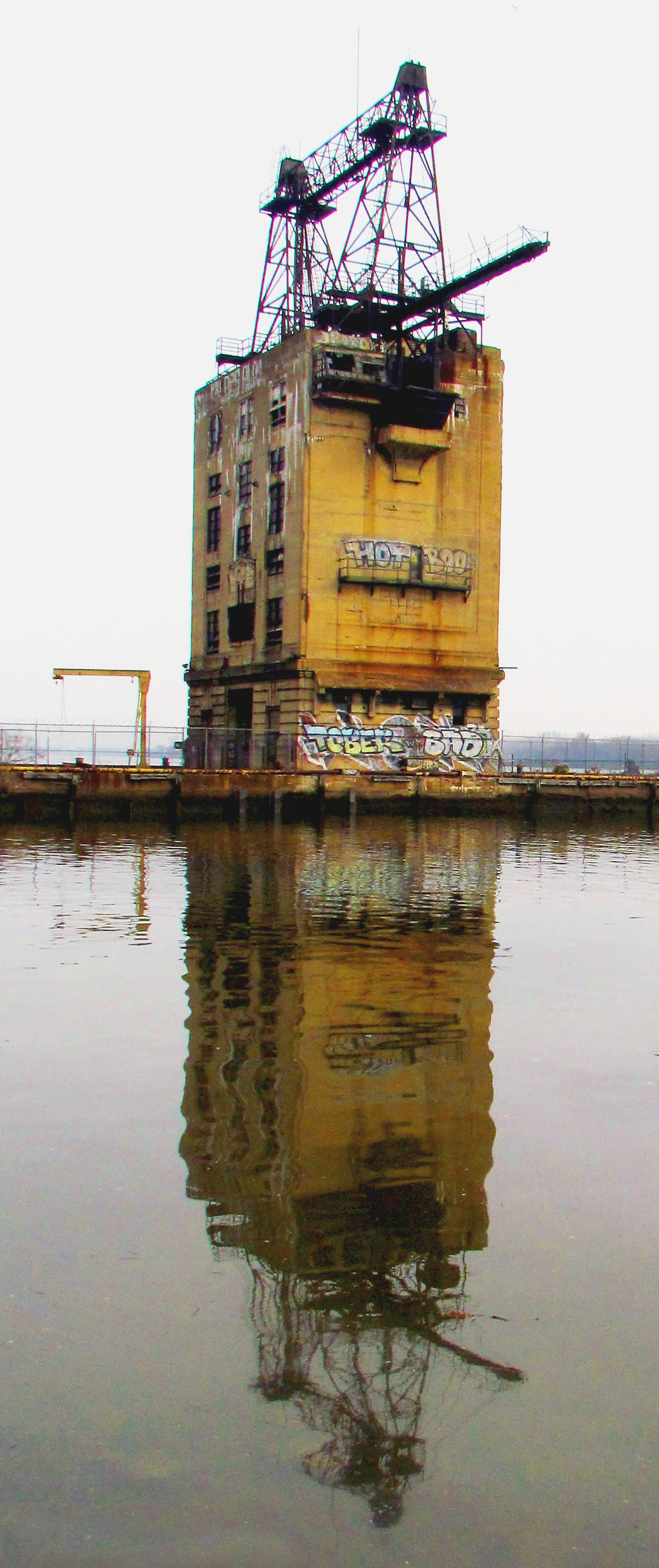 PECO Coal Tower Reflection On The Delaware