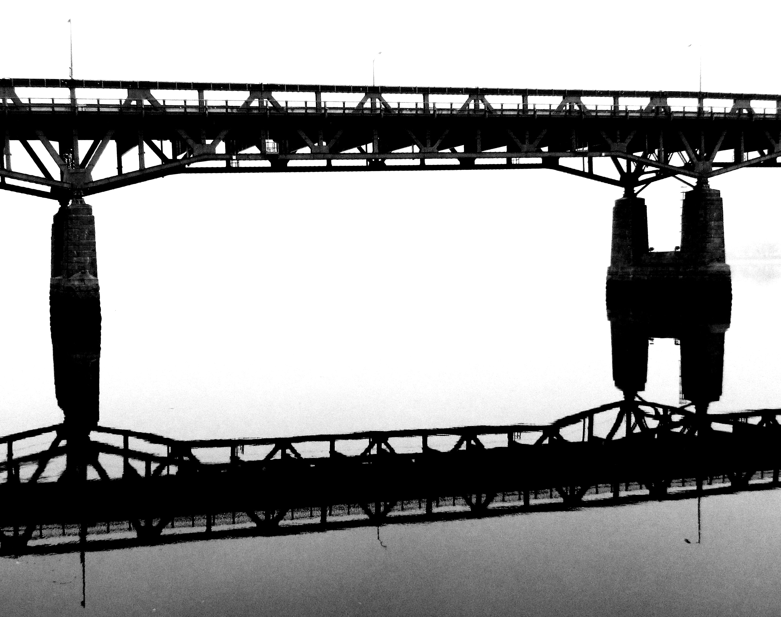 Tacony Bridge Span Reflection Silhouette