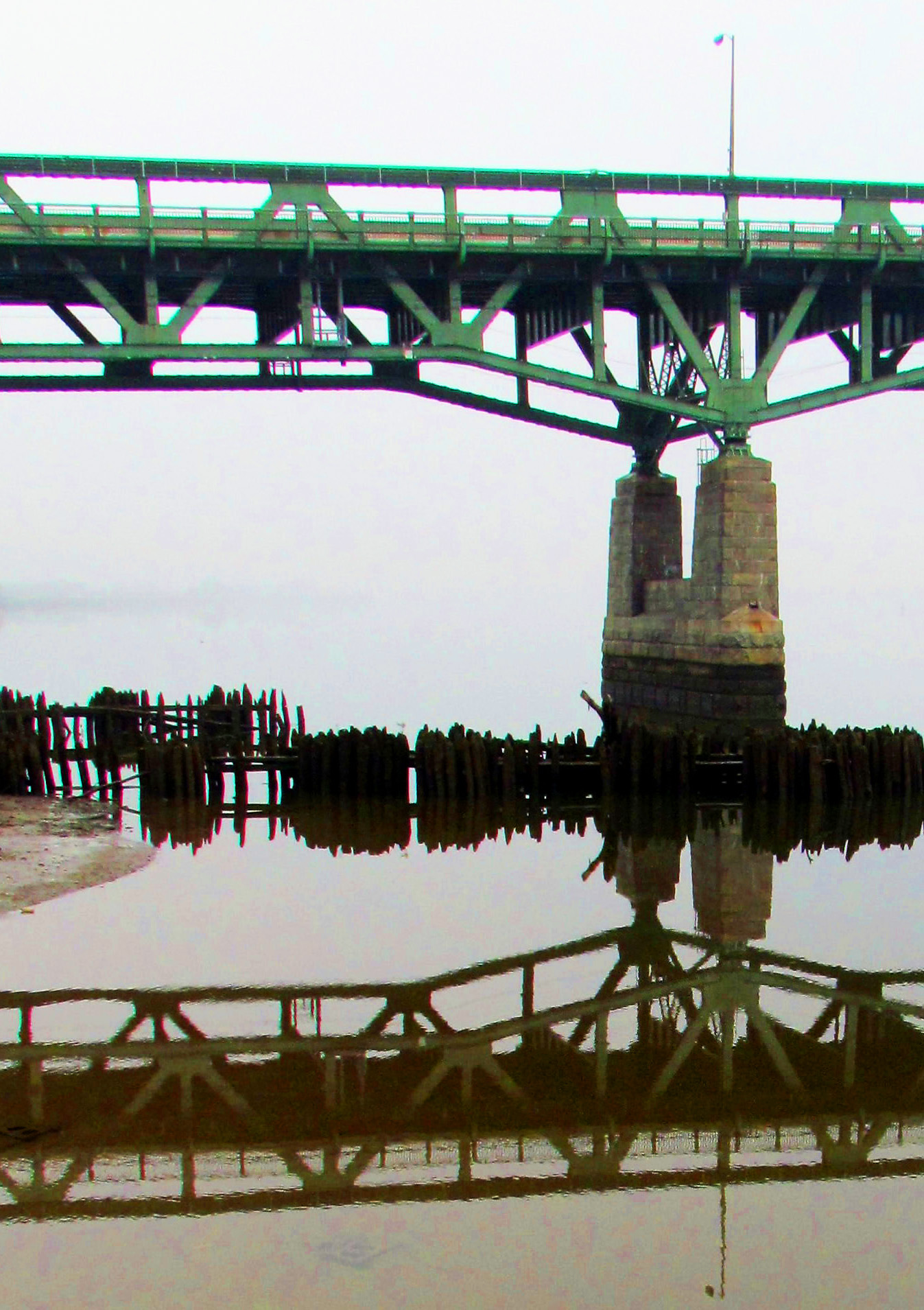 Tacony Palmyra Bridge Foundation & Span Reflections