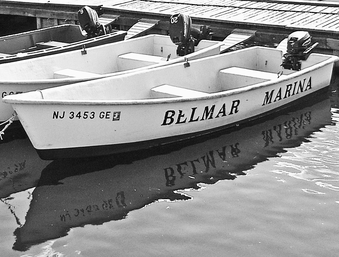 Belmar Marina Boat Reflection
