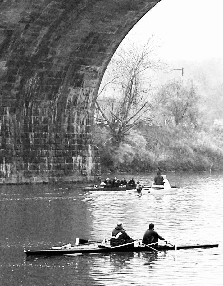 Black & White Early Morning Philly Rowers