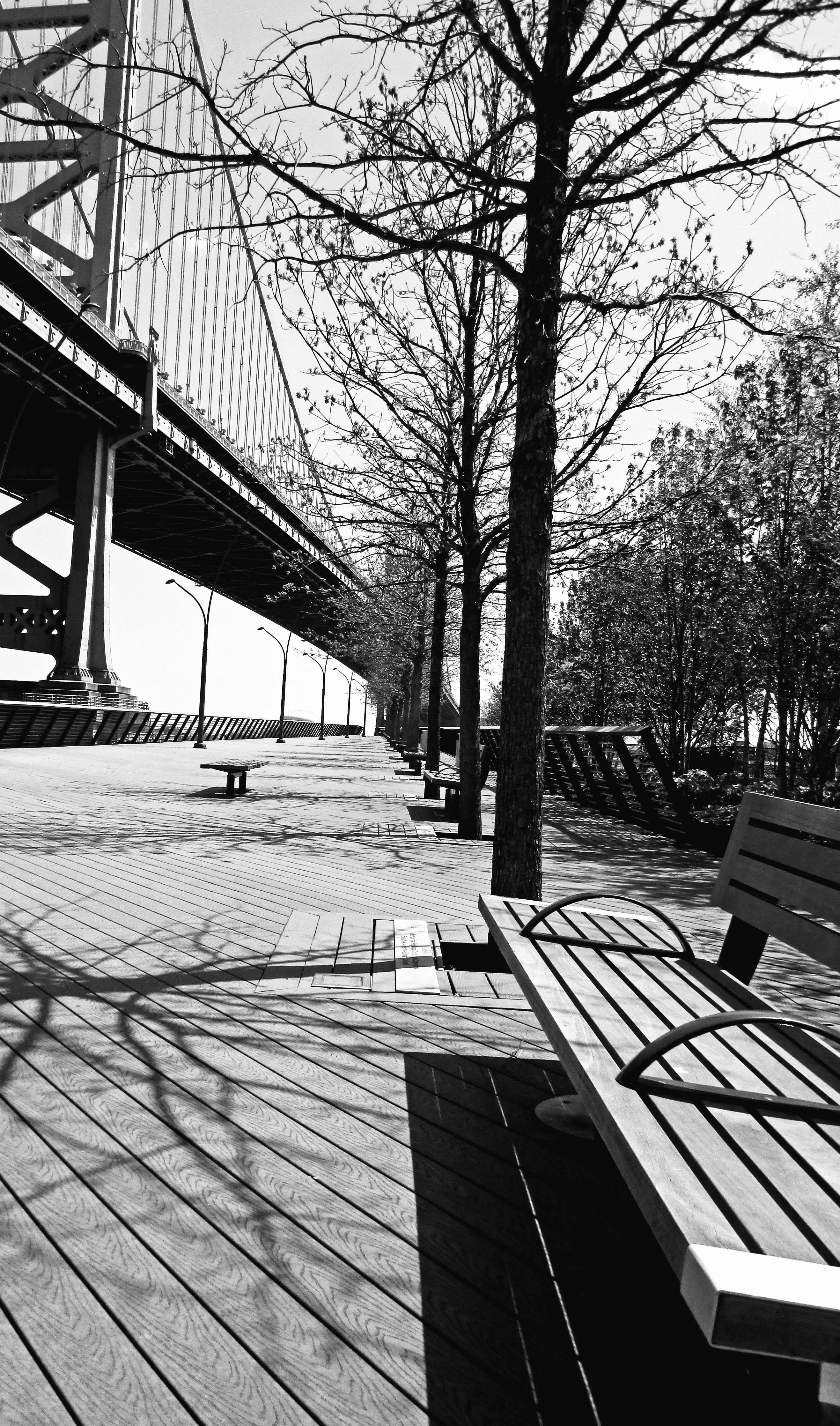 Black & White Philly's Race Street Pier