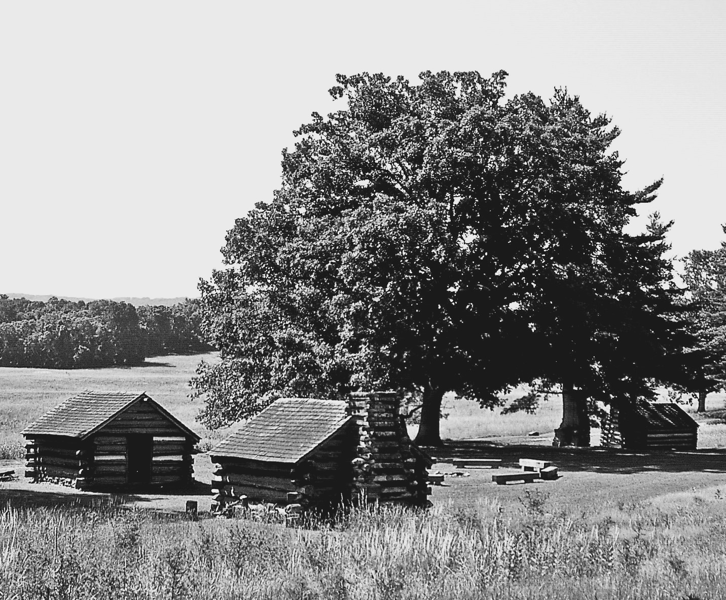 Black & White Valley Forge Troop Encampment