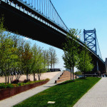 Pathway To The Upper Terrace Of The Race Street Pier In Philly