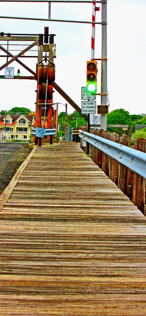 Single Sided Boardwalk Past The Rolling Counter Weights On Historic NJ Draw Bridge