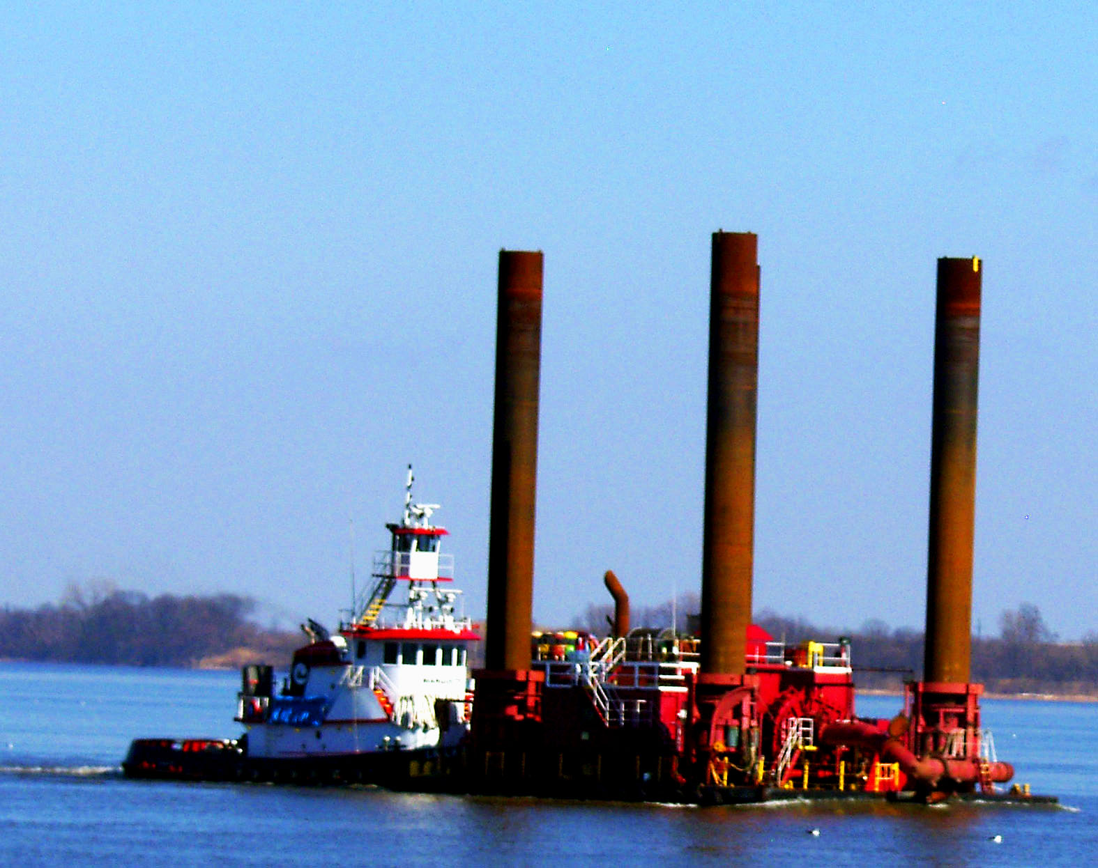 Tugging A Barge In Delaware Bay