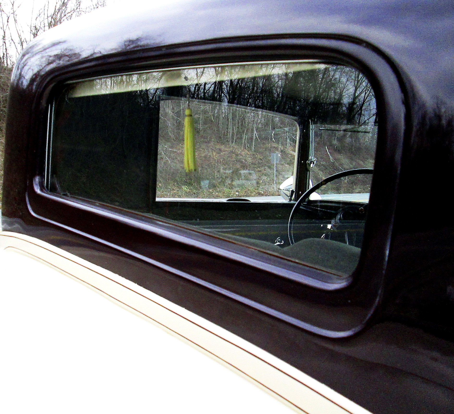 Rear Window With Pull Down Shade For 1931 Packard Coupe