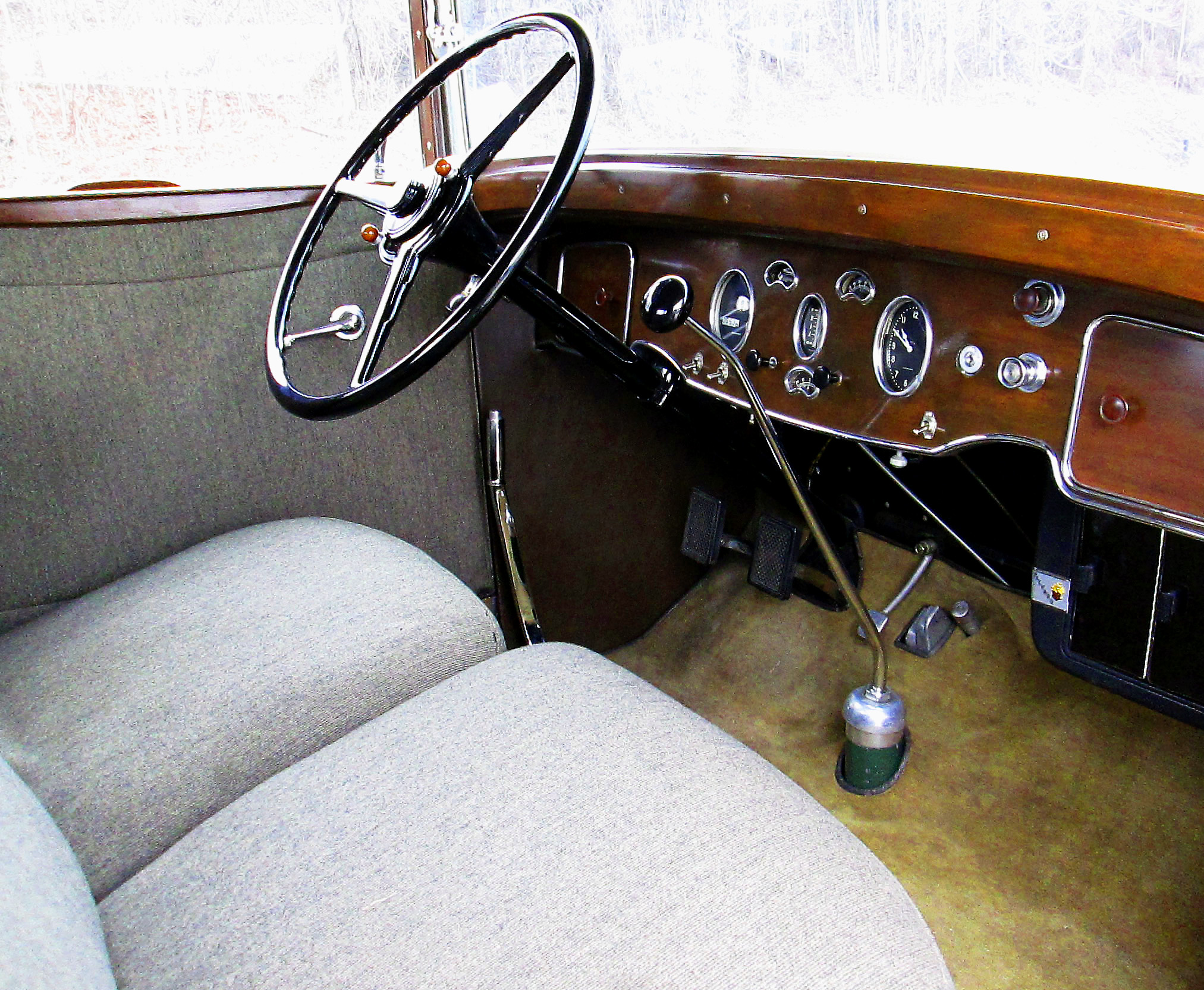 Restored Cabin Of  Packard Coupe