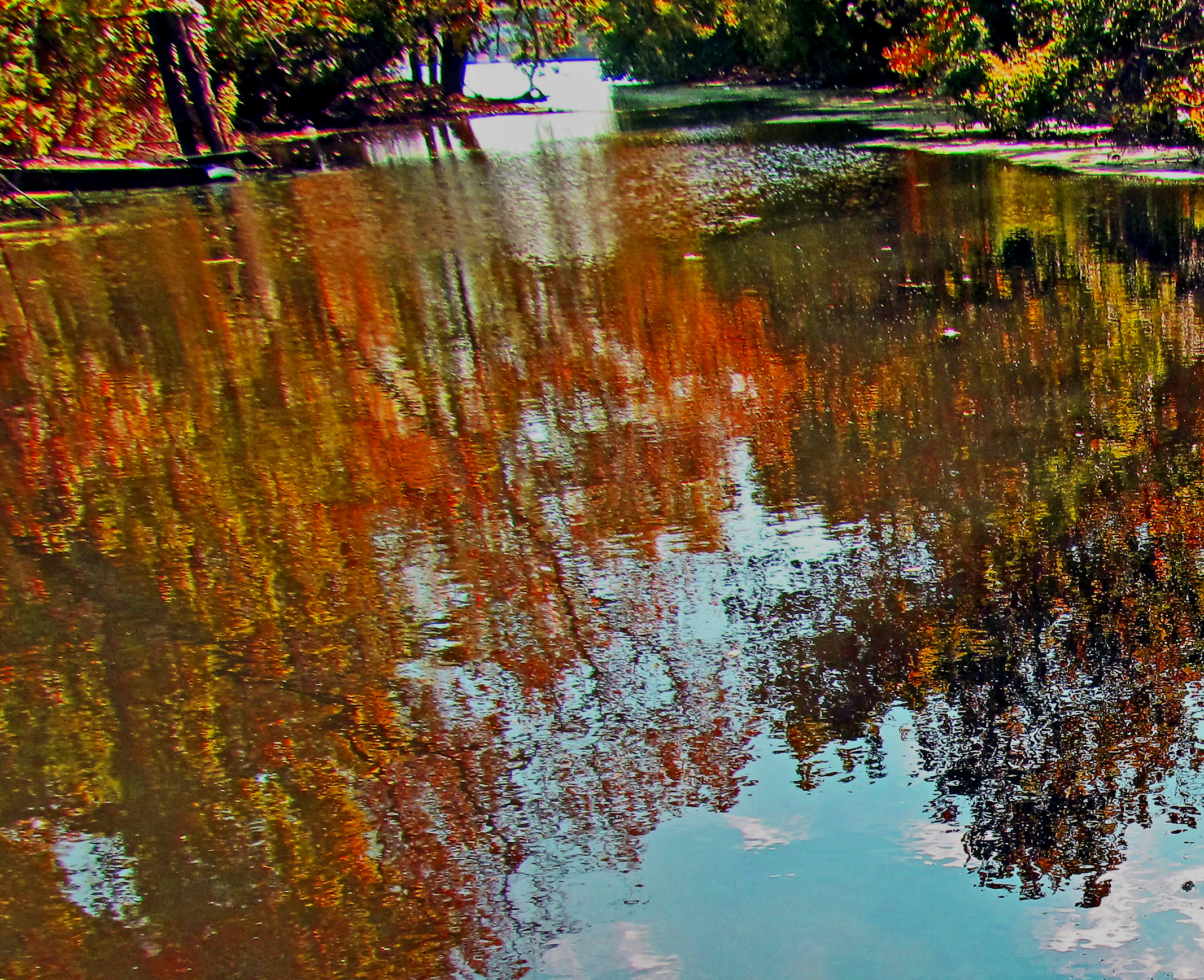 Fall Color Reflections Along The Schuylkill River