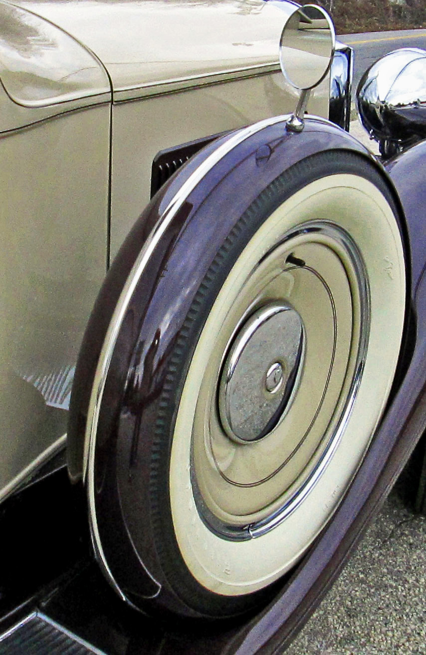 1931 packard white wall spare tire rear view mirror love 39 s photo album. Black Bedroom Furniture Sets. Home Design Ideas