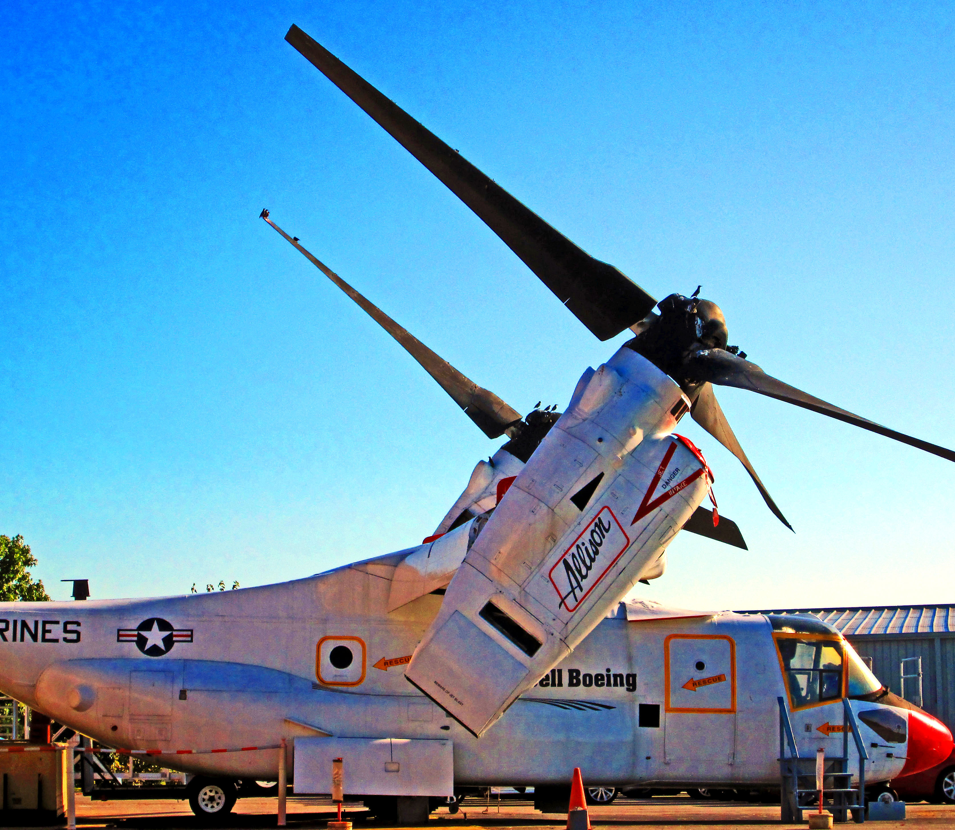 Bell Boeing Osprey Aircraft On Display At Museum