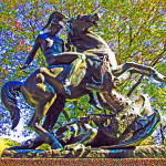 Fairmount Park Statue Of St George & The Dragon