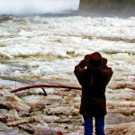 Photographing Delaware River Ice Jams