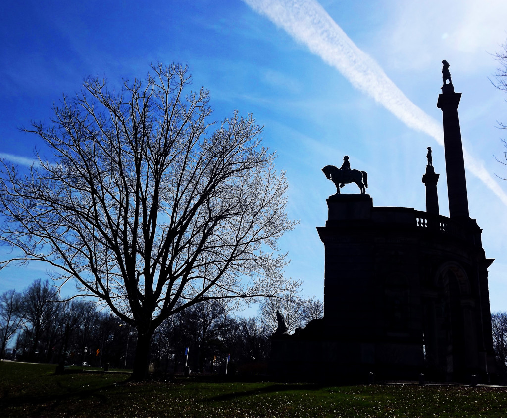 Silhouette Of Philly's American Civil War Monument