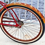 Rusty Rear Fender On Vintage Huffy Bike