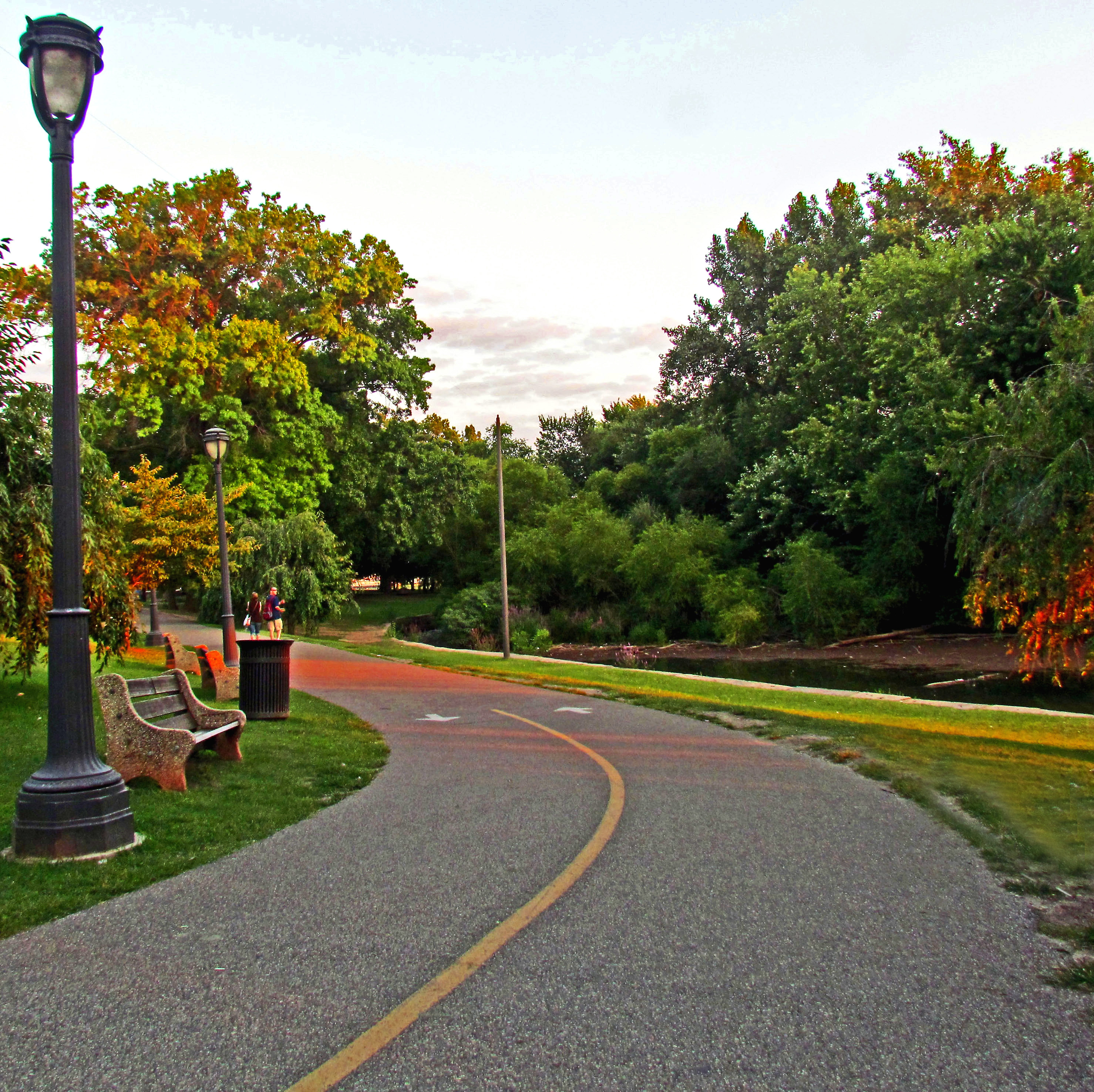 Bicycle Trail In Fairmount Park