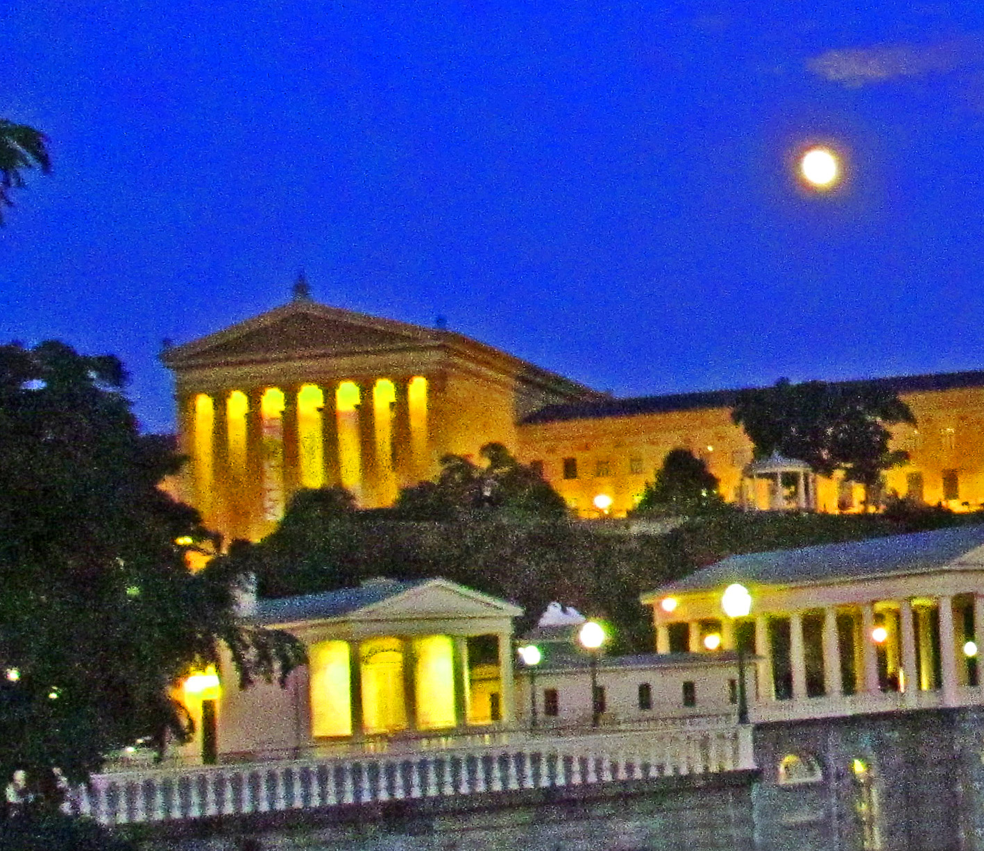 Moon Over Philly Art Museum