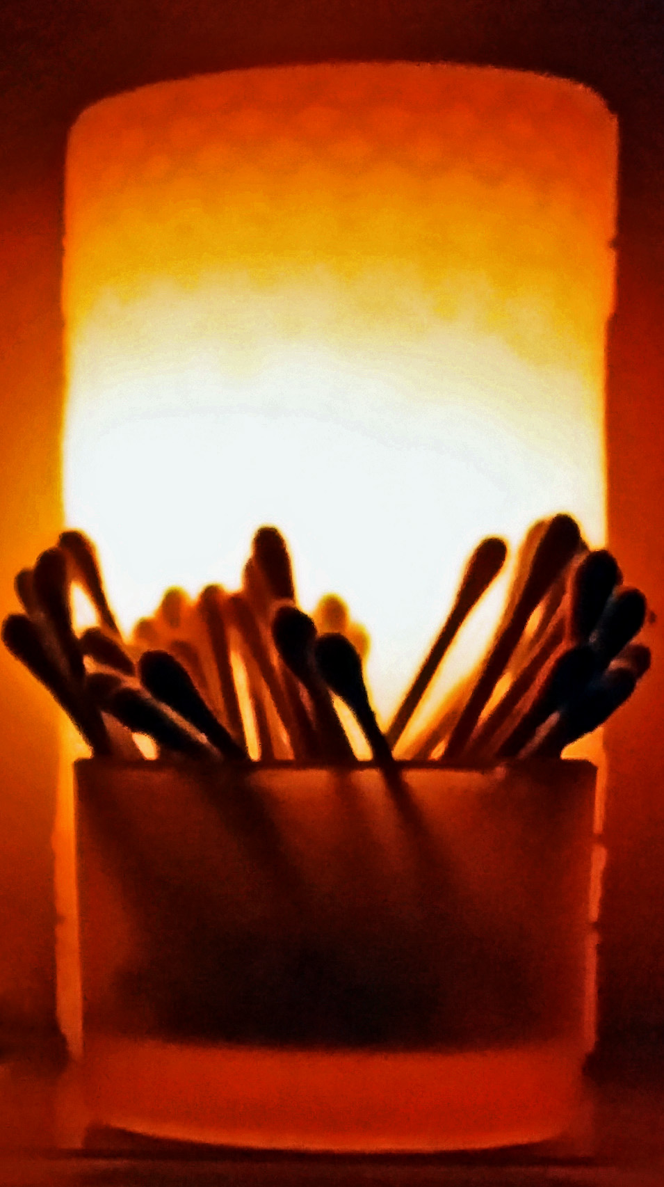 Swabs Under Candle Light