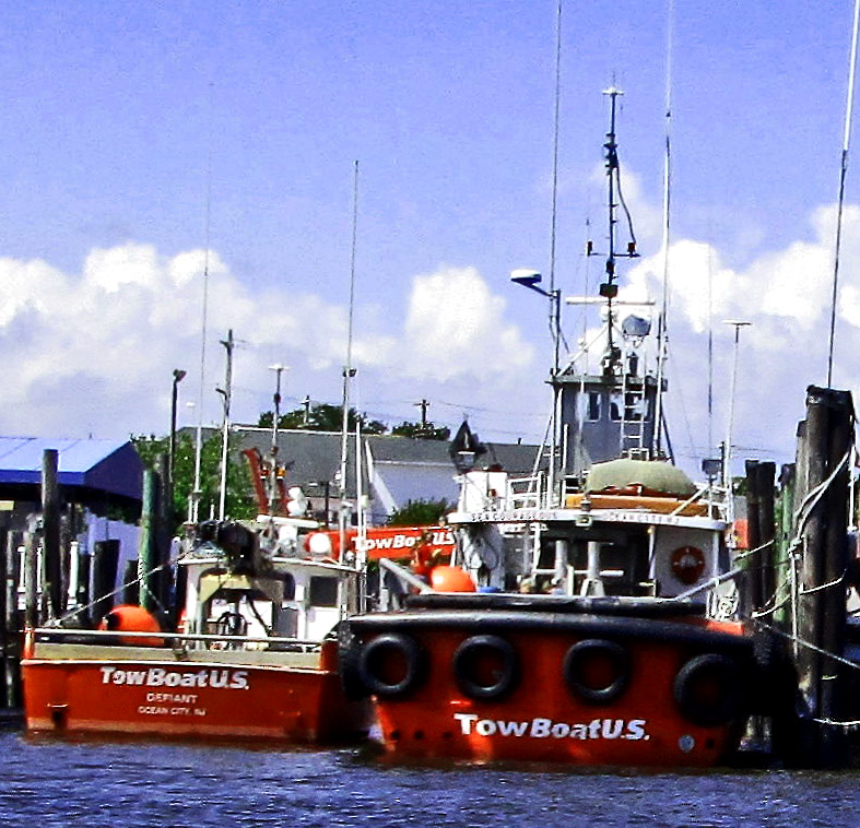 Tow Boats Docked In Somers Point