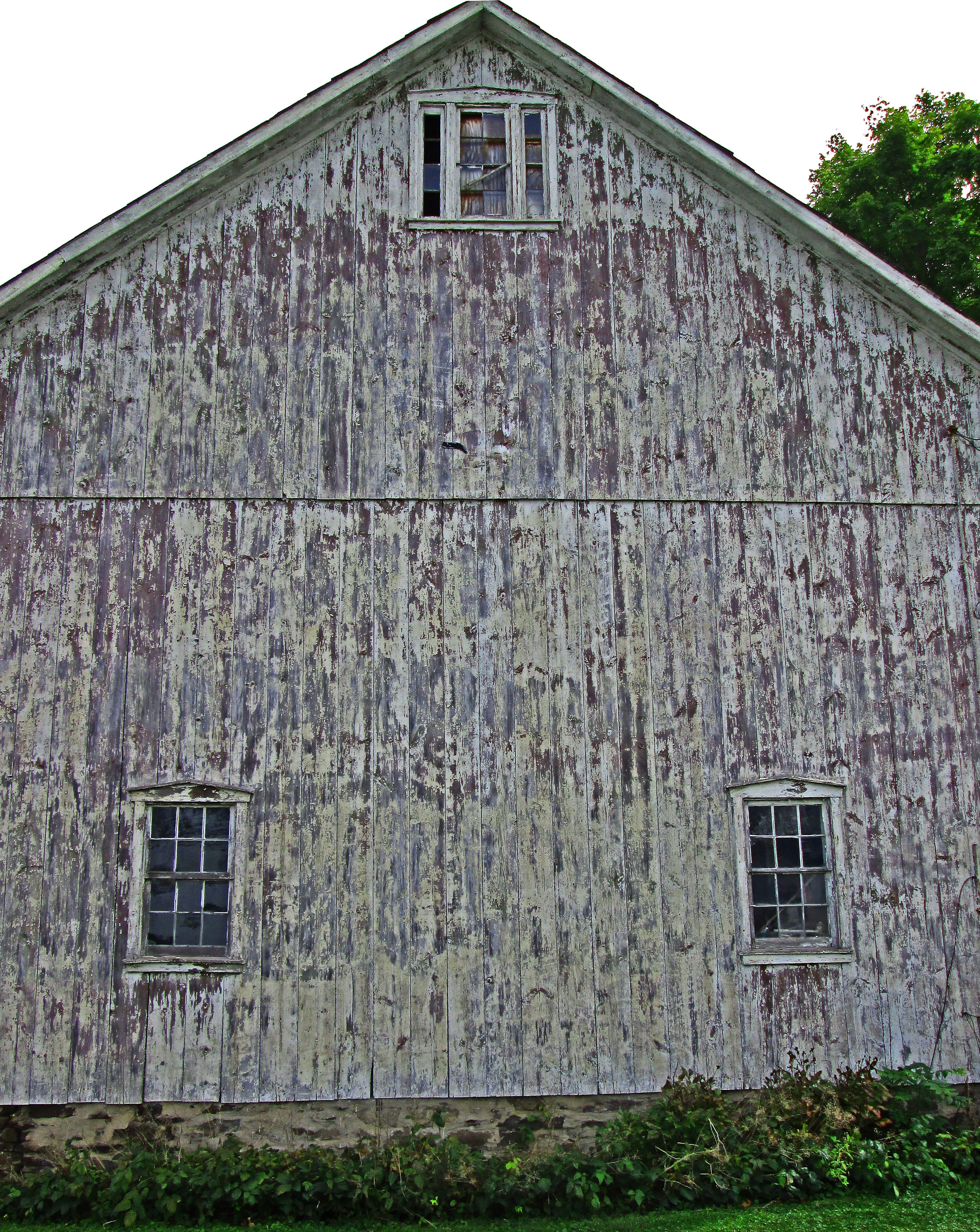 Broken Windows On Old Barn